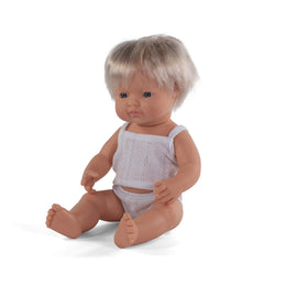 Miniland - Baby Doll Caucasian- Boy or Girl 38CM