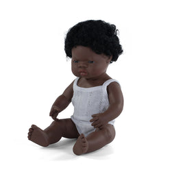 Miniland - Baby Doll African - Girl or Boy 38CM