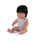 Miniland - Baby Doll Asian - Boy 38CM