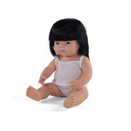 Miniland - Baby Doll Asian - Boy or Girl  38CM
