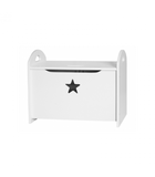Personalised Toy chest Star white - pre order
