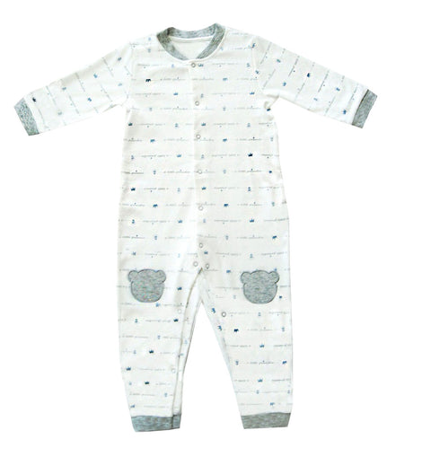 Tickle Tickle - Little Crown Organic Sleepsuit -  Grey - Available Sizes: 6-9M/9-12M