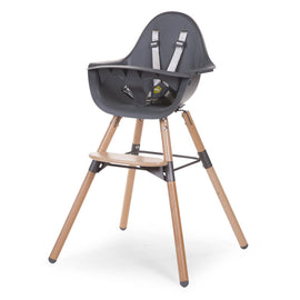 Childhome Evolu 2 Chair with Bumper - Colours: Natural/White, Natural/Anthracite, Black