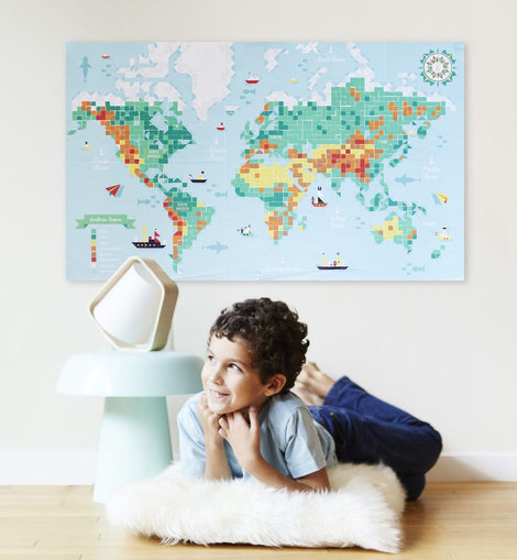 Poppik - Sticker Poster - World Map