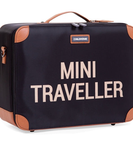 Childhome - Mini Traveller Kids Suitcase - Black Gold