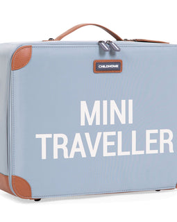 Childhome - Mini Traveller Kids Suitcase - Grey Off White