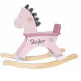 Personalised Rocking Horse Pink