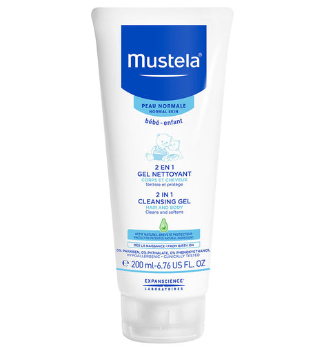 Mustela - 2 in 1 Hair and Body Cleansing Gel (200ml)