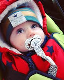 Elodie Pacifier clip - Dots of fauna