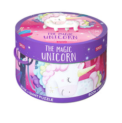 Book And Giant Puzzle Round Box - The Magic Unicorn