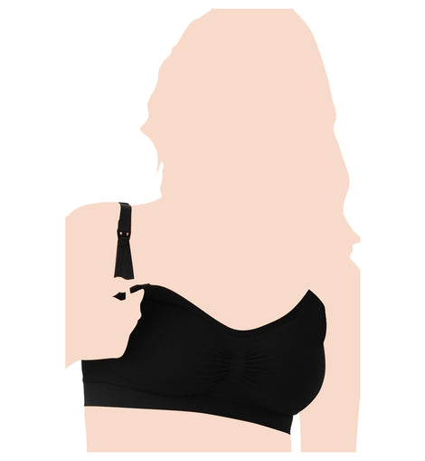Belly Bandit® - Bandita Nursing Bra - Black - Available Sizes: S/M/L/XL