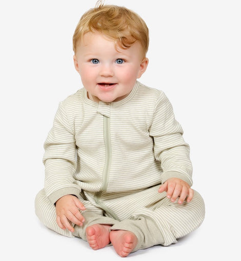 Tickle Tickle - Lil Fern Zipup Sleepsuit - Available Sizes: 0-3M/3-6M/6-9M/9-12M/12-18M