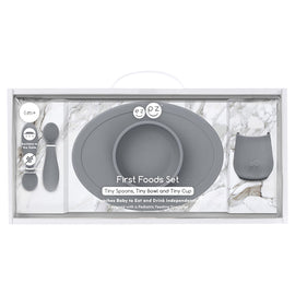 Ezpz - First Food Set - Grey