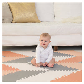 Skip Hop - Playspot Geo Floor Tiles - Grey & Peach