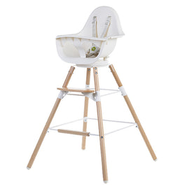 Childhome Evolu One 80° Chair 2-in-1 + Bumper - Natural White