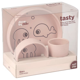 Done By Deer - Silicone Sea Friends Dinner Set - Powder