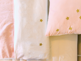 100% Organic Double Sided Duvet Cover Set Let's Sleep/Stars (full size bed)