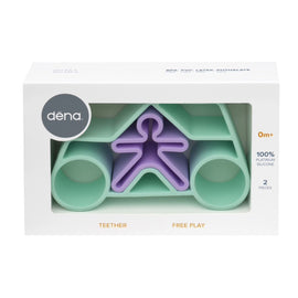 Dena - Fun and safe silicone based free play kit - Car Pastel