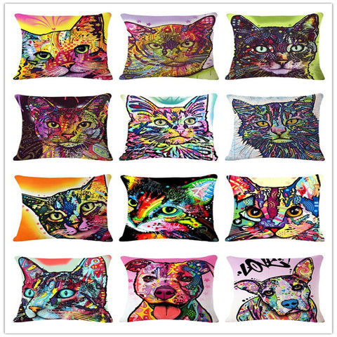 Cushion Cat Print Pillow