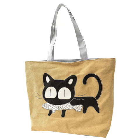 Cute Cat Canvas Tote Bag