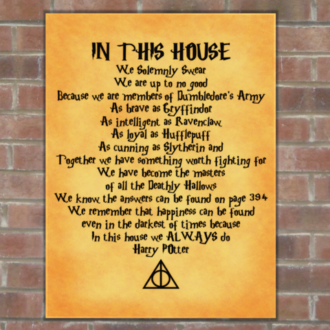 Harry Potter House Canvas