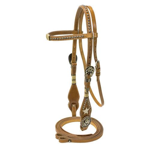 Brow Bridle With Inlay
