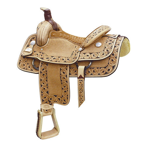 All American Saddles Motes Accent Roper Saddle by Billy Cook Saddlery