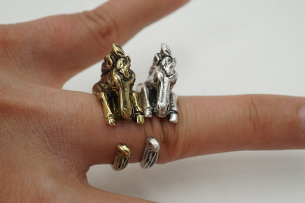 Elegant Antique Silver Horse Ring (LIMITED SUPPLY)