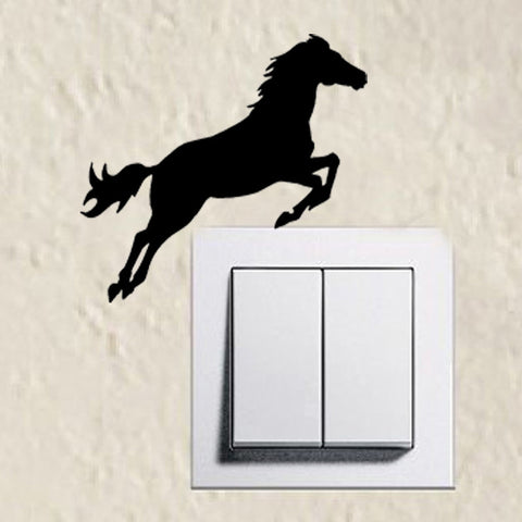 All American Saddles Adorable Jumping Horse Silhouette Light Switch Sticker (Limited Supply)