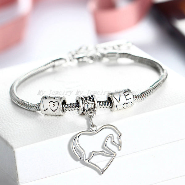 Cute Horse Heart Bracelet (Limited Supply)