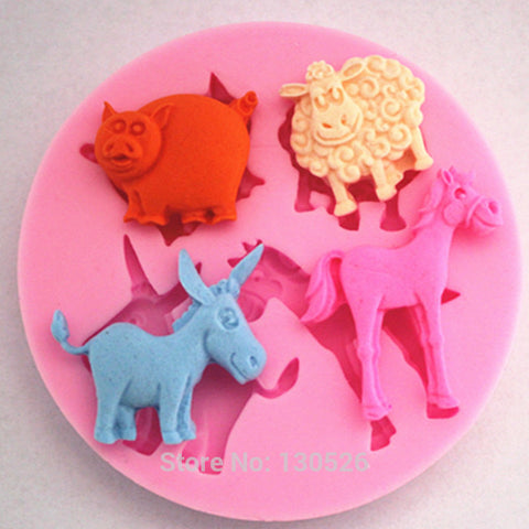 Pig Sheep Horse Donkey Livestock Silicone Mold (Limited Supply)