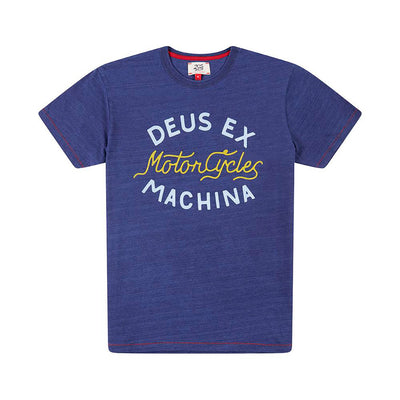 DEUS EX MACHINA Dandy Indigo Tee - Legend Bikes