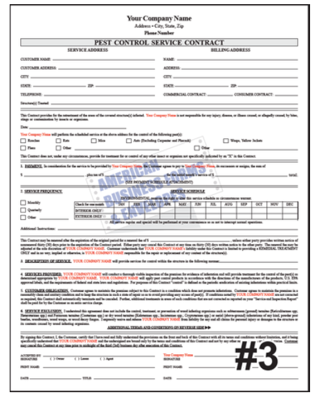 Pest Control – American Business Forms & Envelopes