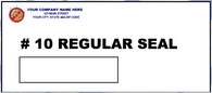 Window Envelope - # 10 Window - Regular Seal