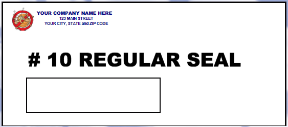 #10 Window Envelope - Regular Seal