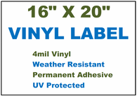 "Vinyl Labels - 16"" x 20"" (2 Colors)"