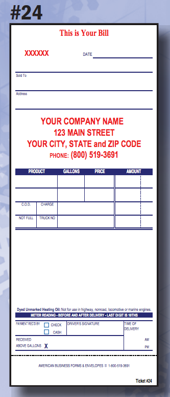 24 Meter Ticket American Business Forms Amp Envelopes