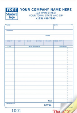 Sales Invoice - Sales Book Form 2509