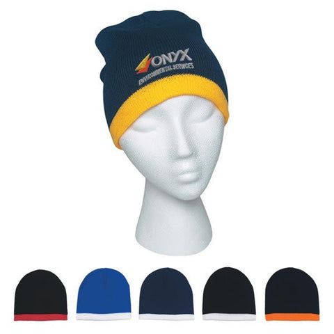 Knit Beanie With Stripe (As low as $7.67)
