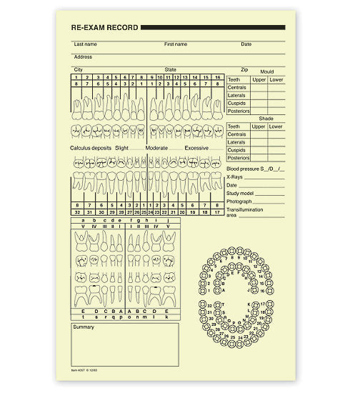Dental Re-Exam Record