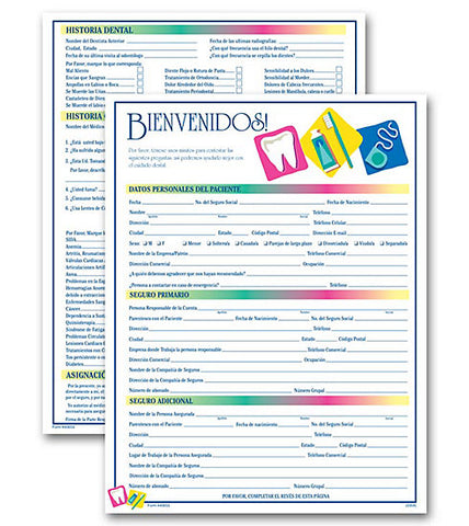 Dental Icon Registration Form - Two-Sided (Spanish)