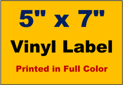 "Vinyl Labels - 5"" x 7"" (Full Color)"