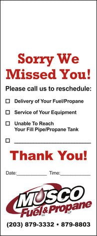 Fuel Door Hanger - Full Color - Template #15