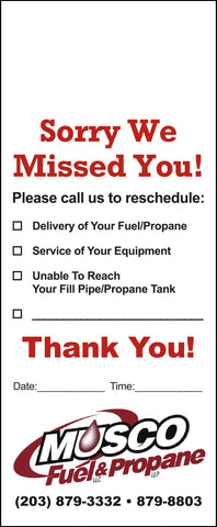 Propane Door Hanger - Full Color - Template #15