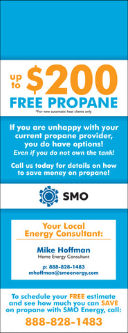 Propane Door Hanger - Full Color - Template #18