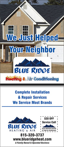 HVAC Door Hanger - Full Color - Template #11