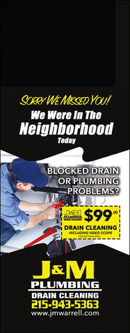 Plumbing Door Hanger - Full Color - Template #01