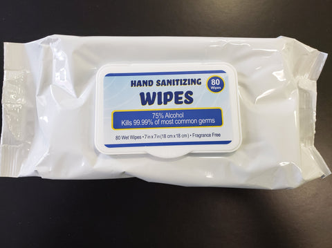 75% Alcohol Antibacterial Wipes- 80 in a pack  $ 6.00 each with SAVE25 at checkout