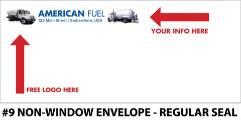 #9 Window Fuel Envelope - Regular Seal