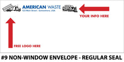 #9 Window Refuse Envelope - Regular Seal